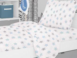 Σεντόνια Μονά (Σετ 3τμχ) Dimcol Star 104 Sky Blue