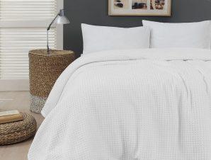 Πικέ υπέρδιπλη waffle Art 1990 White 230×240 Λευκό Beauty Home