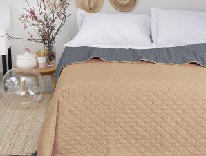Κουβερλί Υπέρδιπλο 220X240 Melinen Coby Beige-Grey