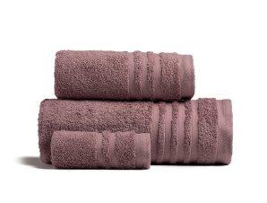 Πετσέτες Μπάνιου (Σετ 3 Τμχ) Melinen Premio Grey/Lilac