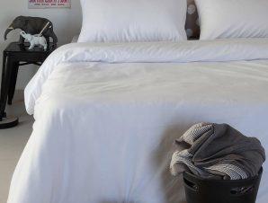 Σεντόνια Μονά (Σετ) 100X200+32 Melinen Urban White Με Λάστιχο