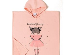 Poncho 60X60 Melinen Watermellow Pink