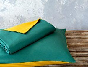 Nima Σετ Παπλωματοθήκη Υπέρδιπλη 220×240 Abalone Green / Mustard Beige