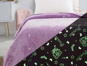 Κουβέρτα μονή φωσφορίζουσα Art 6146 160×220 Λιλά Beauty Home