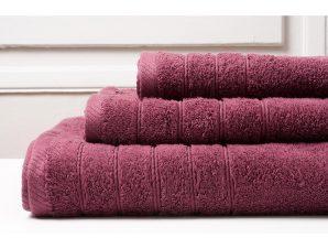 Πετσέτα Προσώπου 50X90 Melinen Colours Burgundy