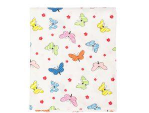 Σεντόνι Λίκνου 80X110 Dimcol Butterfly 49 Πολύχρωμο Χωρίς Λάστιχο