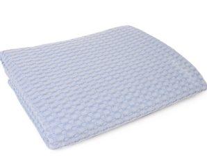 Κουβέρτα Πικέ Μονή 165X255 Dimcol Μονόχρωμη Σιελ