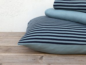 Σεντόνια Υπέρδιπλα (Σετ) 160×200+30 Nima Suave Dark Blue Με Λάστιχο