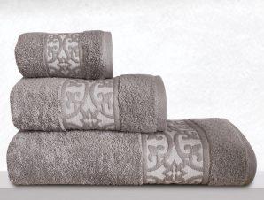 Πετσέτες Μπάνιου (Σετ 3 Τμχ) Sb Home Zenith Grey