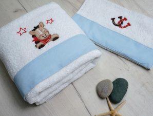 Βρεφικές Πετσέτες (Σετ 2 Τμχ) Sb Home Cow Boy Μπλε