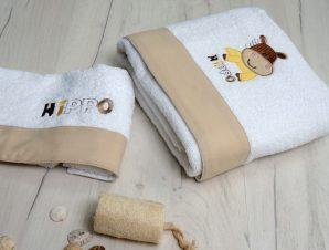 Βρεφικές Πετσέτες (Σετ 2 Τμχ) Sb Home Hippo Μπεζ